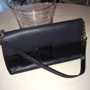 cute navy & black kate spade clutch, barely used